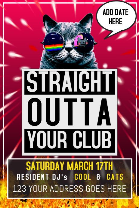 Night Club Event Concert Flyer Postrer