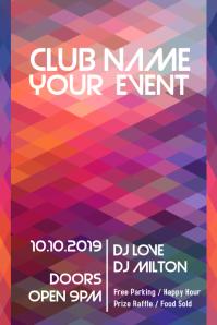 Night Club Event Flyer Geometric Template