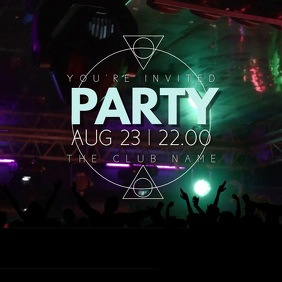 Night Club Event Party Video Template Instagram Post