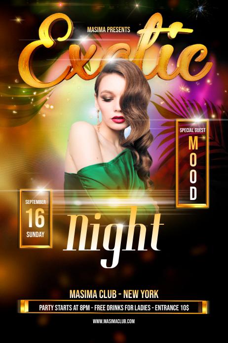 Night Club Exotic Flyer