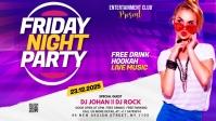 Night club Flyer Vídeo de portada de Facebook (16:9) template