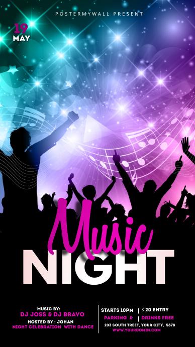 Night club Flyer Instagram 故事 template