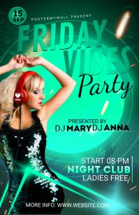 Night Club Flyer Template Tabloïd