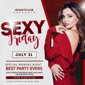 Night Club Flyer Template Publicação no Instagram