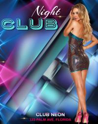 Night Club Flyer Template Poster/Wallboard