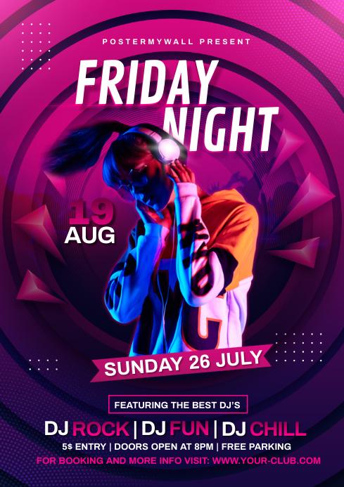 Night Club Flyer Template A4