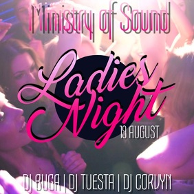 Night Club Ladies Night Event Party Video Template