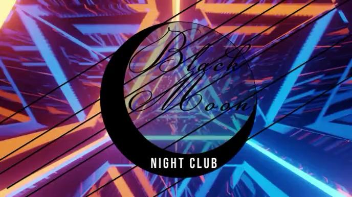 night club neon Tampilan Digital (16:9) template