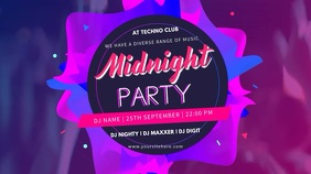 Night Club Party Creative Digital Display Ad Template