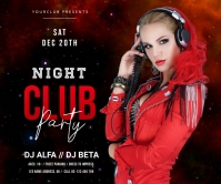 Night Club party Umugqa Omkhulu template