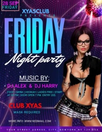 NIGHT CLUB PARTY Flyer (format US Letter) template