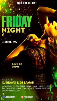 Night club Party Instagram Story template