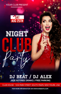 Night club Party Flyer Tabloid template