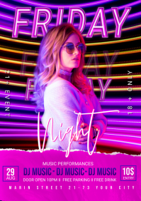 Night Club Party Flyer A3 template