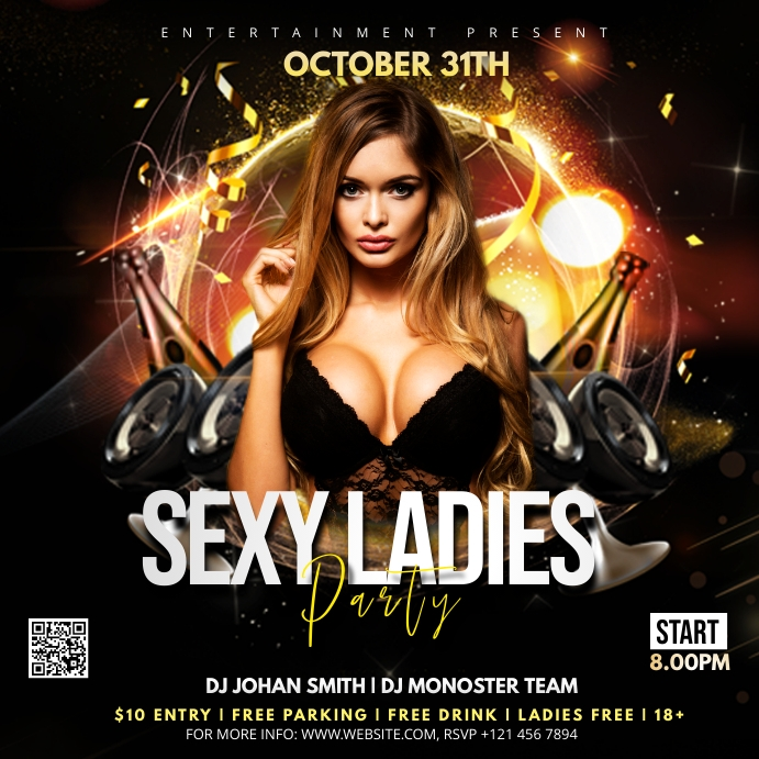Night club Party Flyer Instagram-opslag template