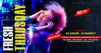 Night club Party Flyer Facebook Ad template