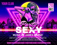 Night club party flyer template Cartaz/placa