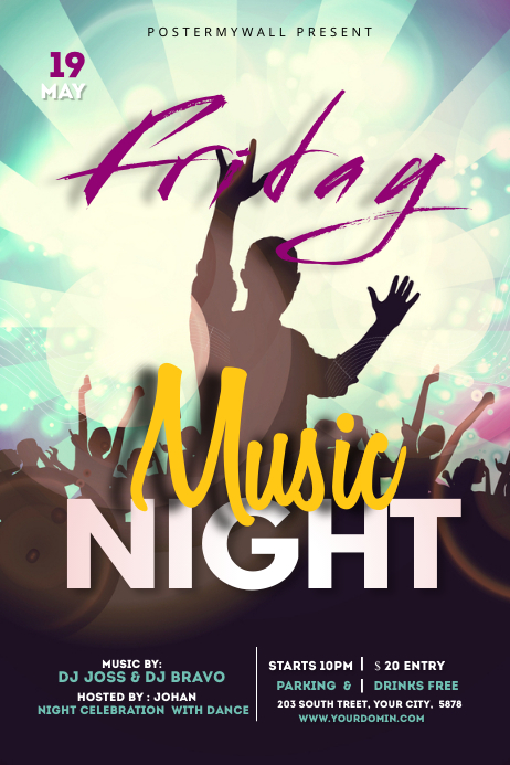 Night club poster template