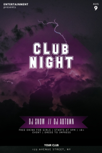 NIght Club Techno Music party Flyer Template