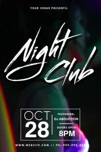 Night Club Video Poster