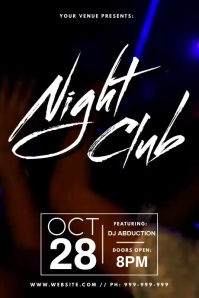 Night Club Video Poster