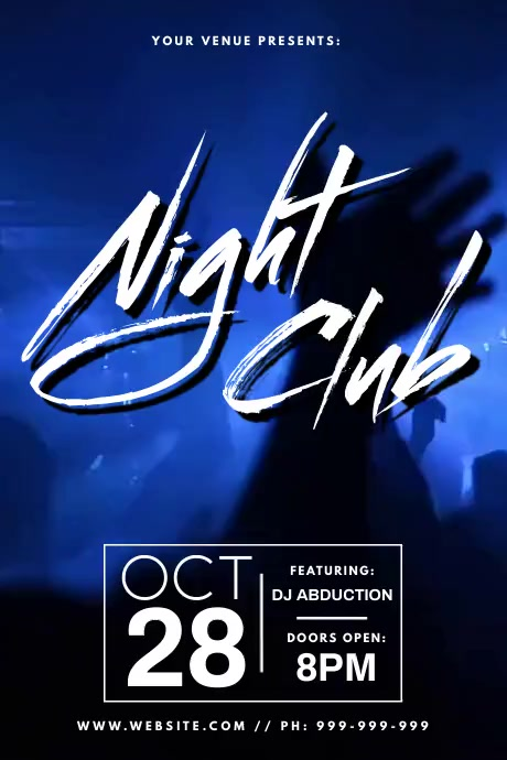 Night Club Video Poster Plakkaat template