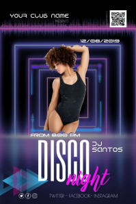 Night Disco Party Flyer Poster