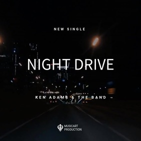 Night Drive Music video template Sampul Album