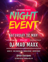 Night Event Flyer