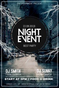 Night Event party flyer template