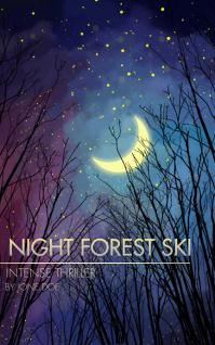 Night Forest Ski Book Cover Sampul Buku template