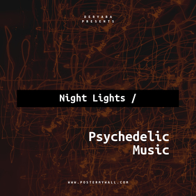 Night Lights Psychedelic music CD Cover