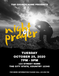 Night of Prayer Church Event Flyer