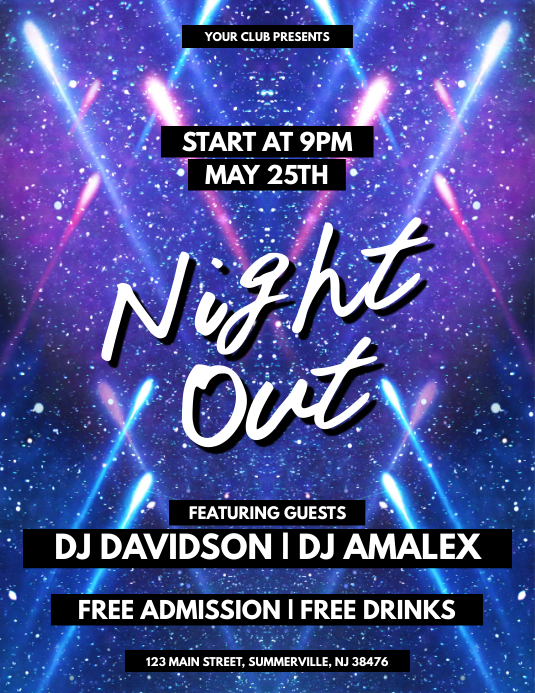 Night Out Flyer