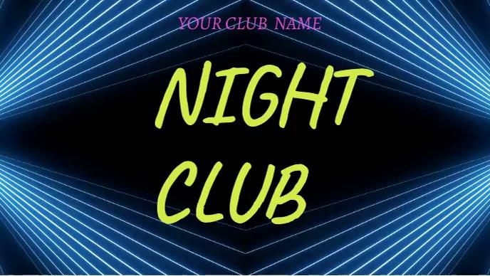 Night party club Уменьшенное изображение YouTube template