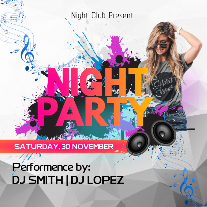 Night Party Instagram template