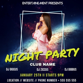 Night Party instagram post template