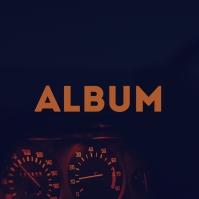 Night Ride Car Dashboard Album Song Cover Art Pochette d'album template
