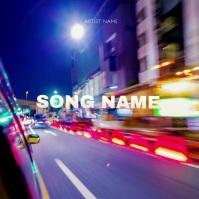Night Ride Vibe album Cover Video Template ปกอัลบั้ม