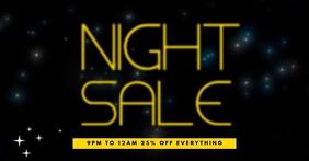 Night Sale Facebook video Post Template Obraz udostępniany na Facebooku
