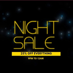 Night Sale Instagram Post Template