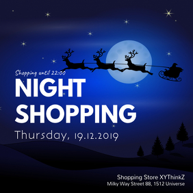 Night Shopping Advert Invitation Store Retail