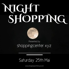 Night shopping Instagram Template