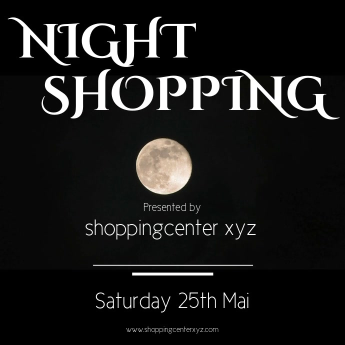 Night shopping Instagram Template