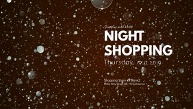 Night Shopping Promo Store Retail Header Ad
