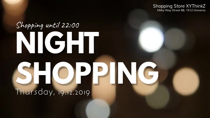 Night Shopping Promo Store Retail Header Ad