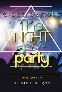 Night shot party Poster template