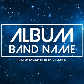 night sky album cover template