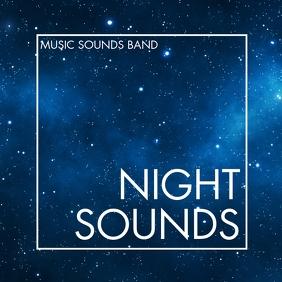 night sounds album music cover design templat 专辑封面 template