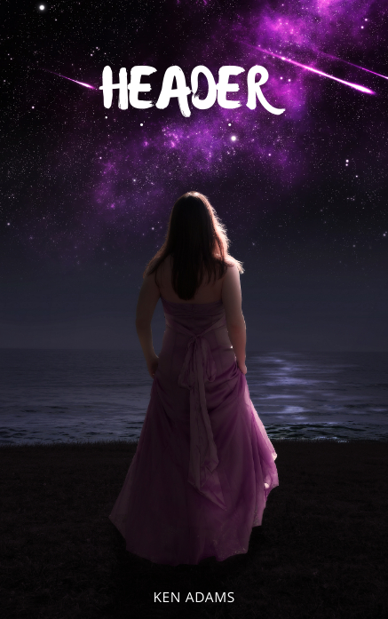 Night Stars Book Cover Template lonely
